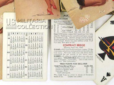 Coffret cartes US 1944, Pin-up