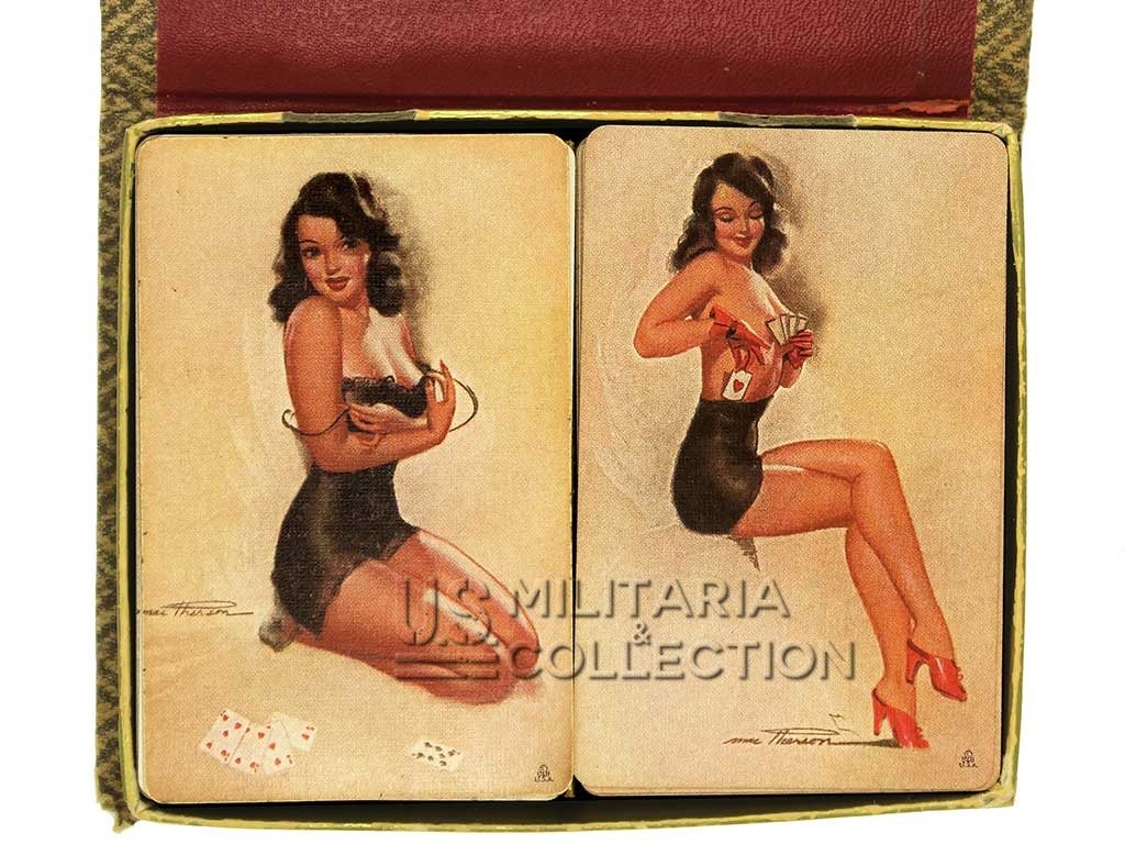 Coffret cartes US 1944, Pin-up