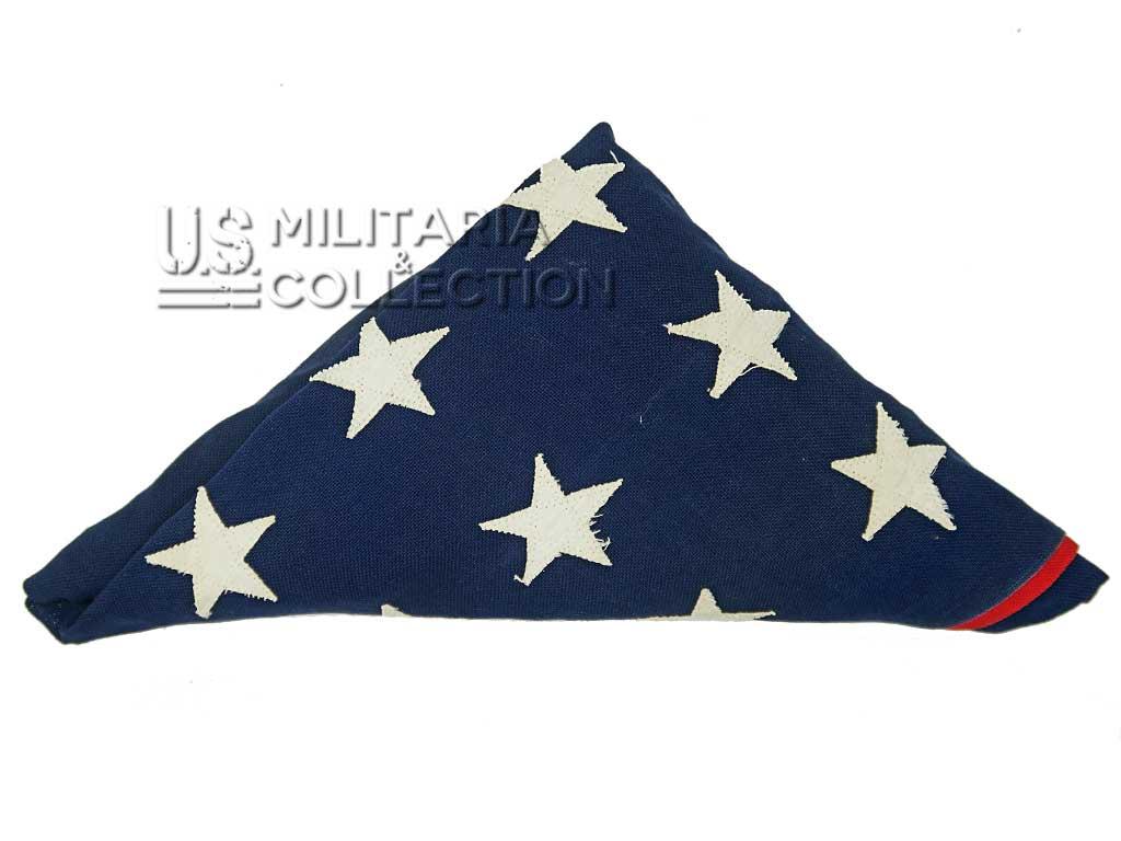 Drapeau US 48 étoiles brodées, Dettras - Bull Dog 1941/1945