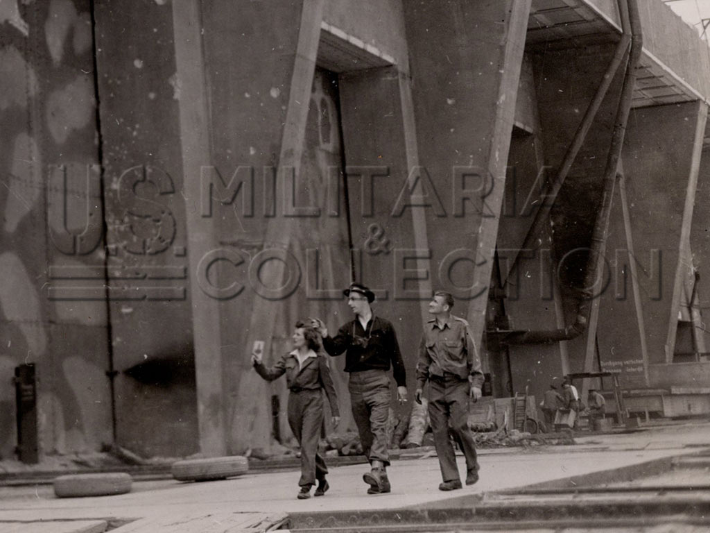 Photo Base sous-marine Lorient, US Army Signal Corps