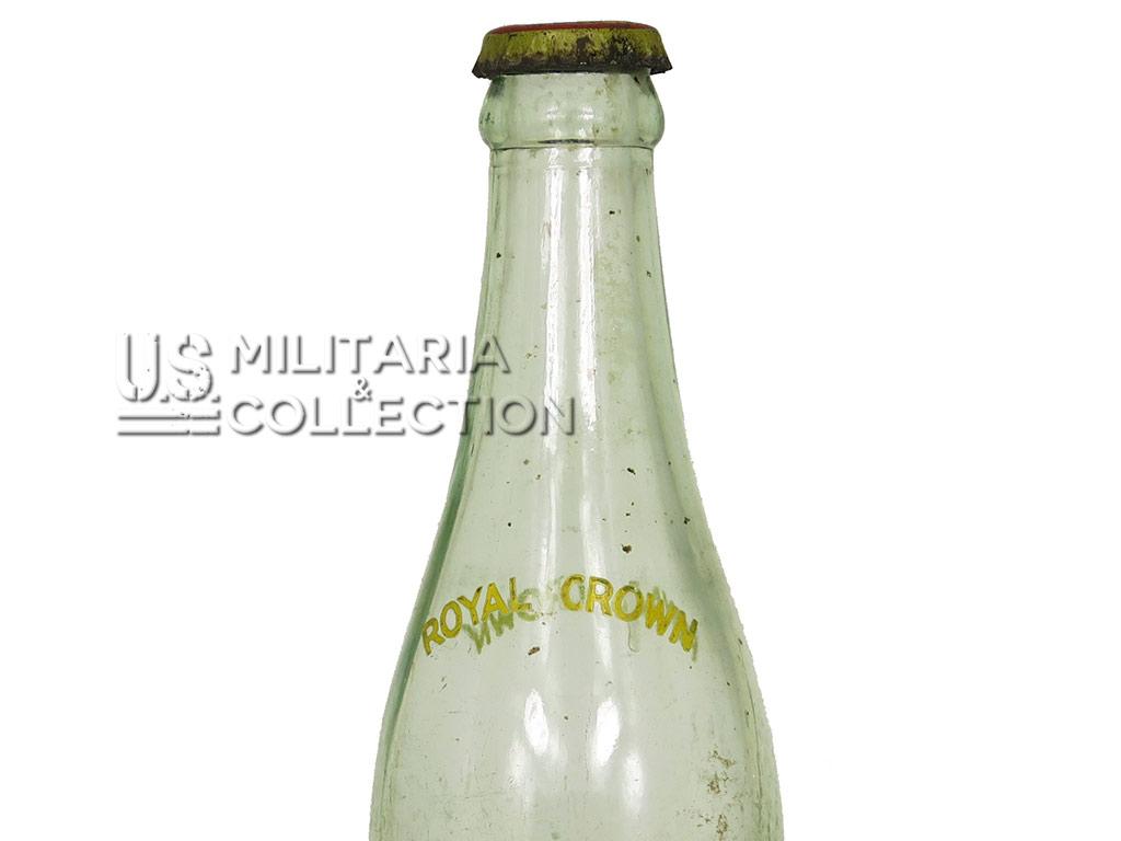 Bouteille Royal Crown Cola. Seconde Guerre mondiale.