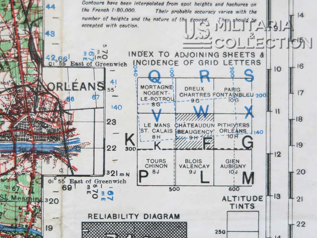 Carte 4e Division Blindée, 35ème Division d'Infanterie