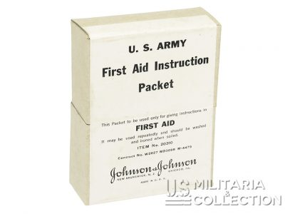First Aid Instruction, US Army, Item N°20310