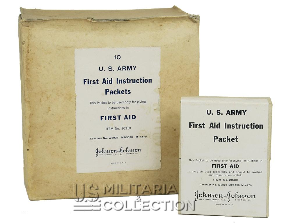 First Aid Instruction, US Army, Item N°20310