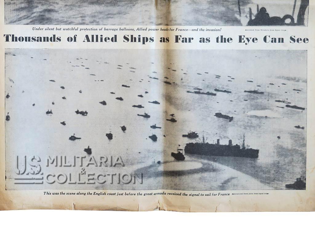 Journaux US débarquement, Milwaukee Sentinel