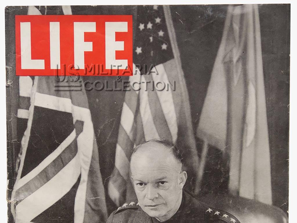 Magazine Life du débarquement, photos de Robert Capa.