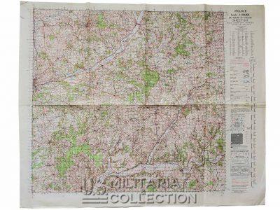 Carte IIIe armée Patton, Le Mans-St Calais 1944