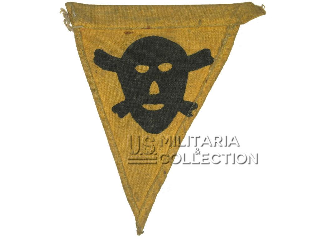 Fanion allemand de signalisation (champs de mines), pour casque M1
