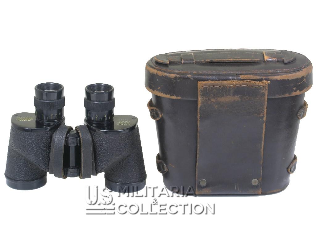 Jumelles USMC 6x30, Etui cuir typique USMC