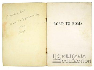 Livret Road to Rome, Campagne d'Italie