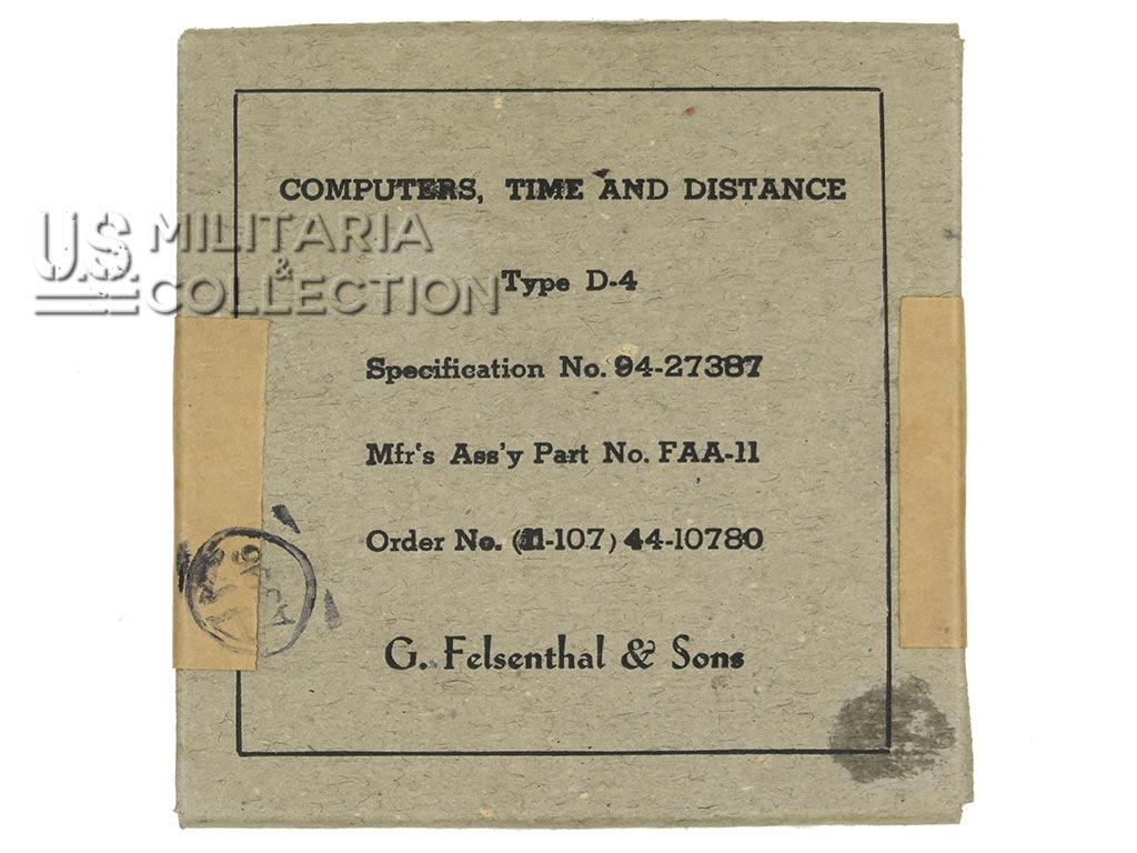 Règle calcul Type D-4, USAAF, Temps et distance, 1944
