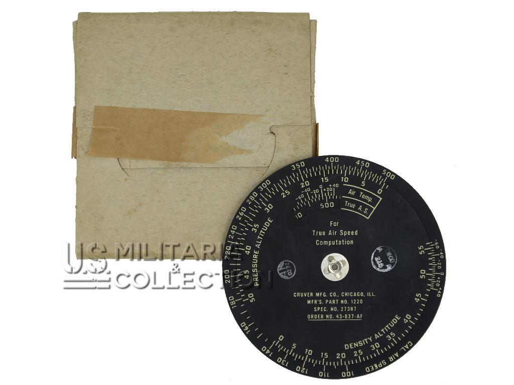 Règle calcul Type D-4, USAAF, Temps et distance, 1943