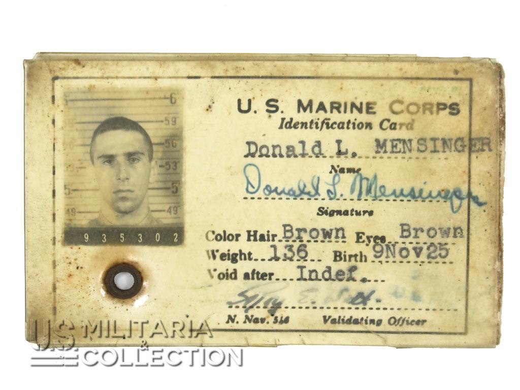 Grouping USMC, 7th Marine Regiment, 1st Marine Division.