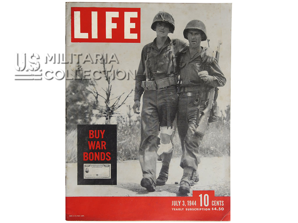 """Magazine Life 3 juillet 1944. """"War comes to the people of Normandy"""""""