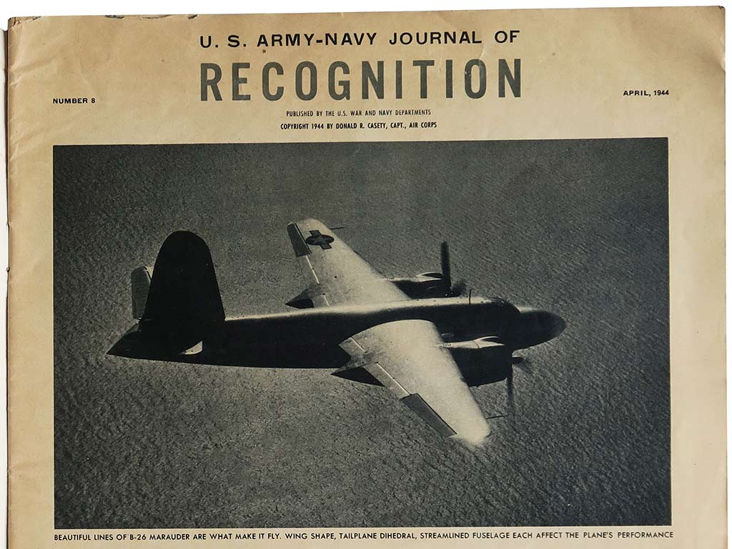 Magazine US Army, Navy, Recognition, 1944