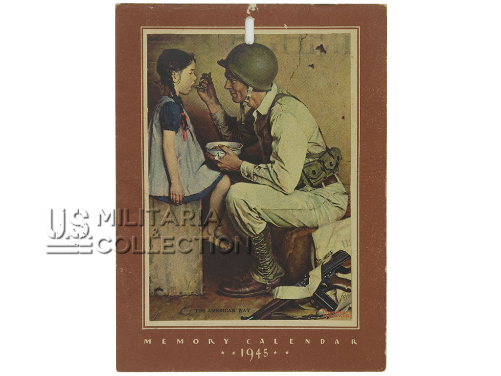Calendrier US Norman Rockwell, 1945