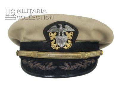 Casquette officier supérieur, US Navy, Bancroft