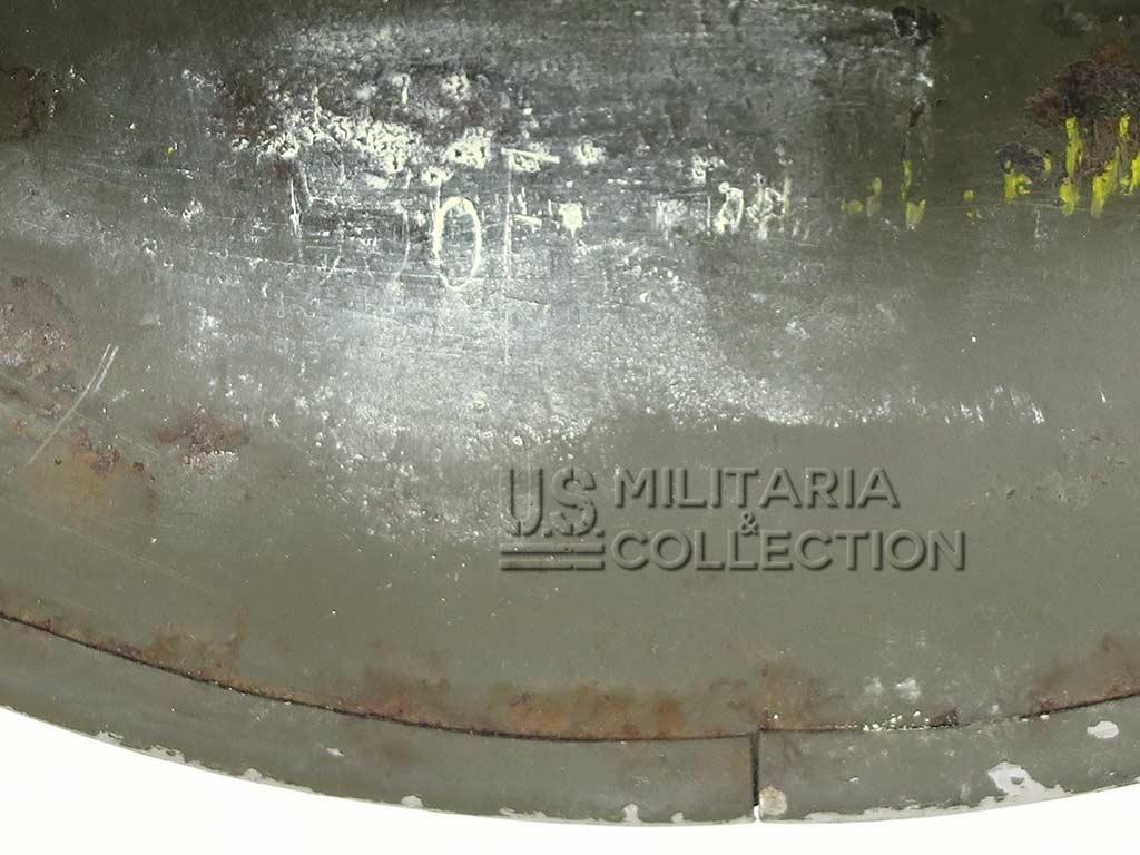 Casque M1 impacté, pattes mobiles, 1944
