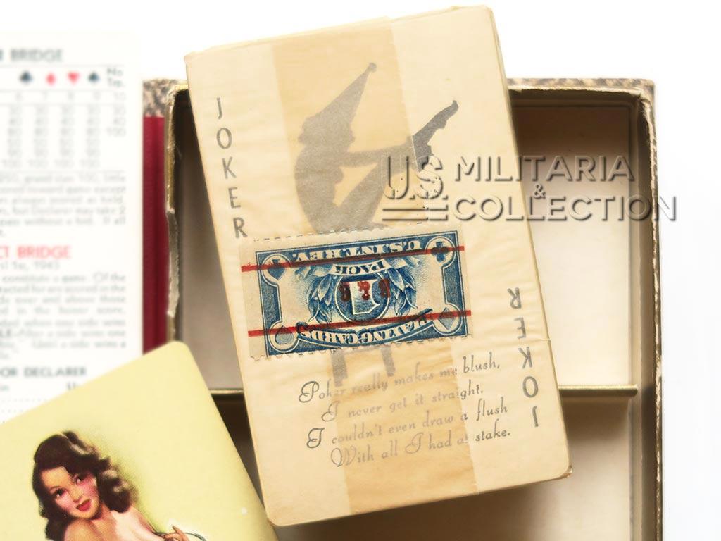 Coffret cartes US 1945, Pin-up