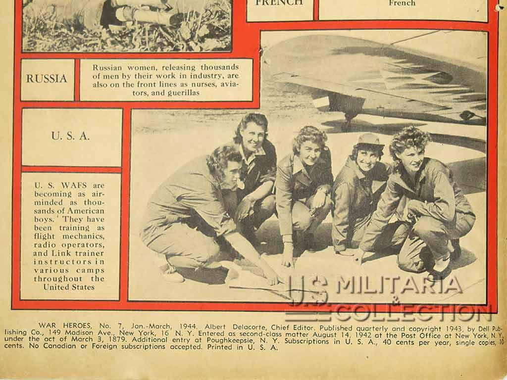 Comic book US 1944, bande dessinée, War Heroes