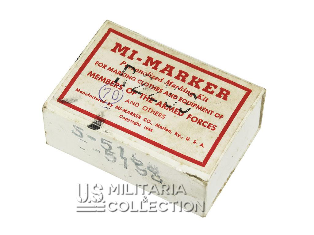 Kit marquage laundry number, 1944