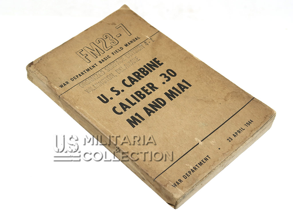 Manuel FM 23-7, Carabine USM1 USM1A1