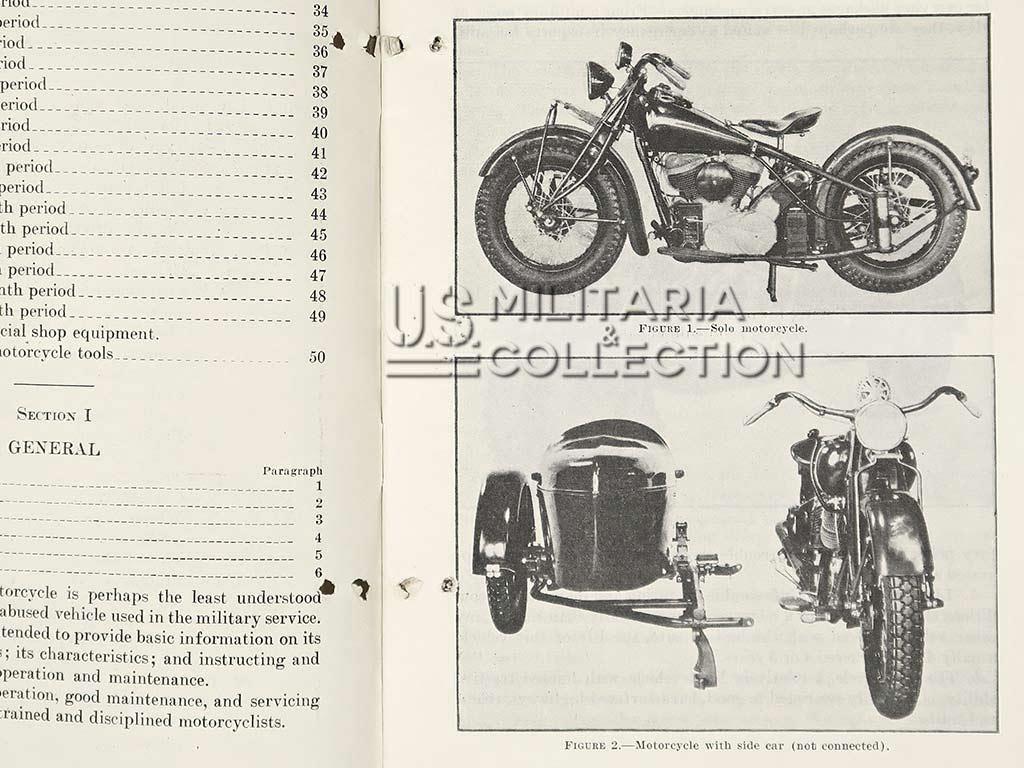 Manuel technique TM 10-515, The Motorcycle