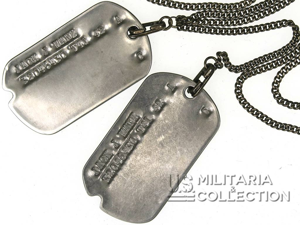 Plaques d'identité, Dog tags, ETO, 2nd Army Corps