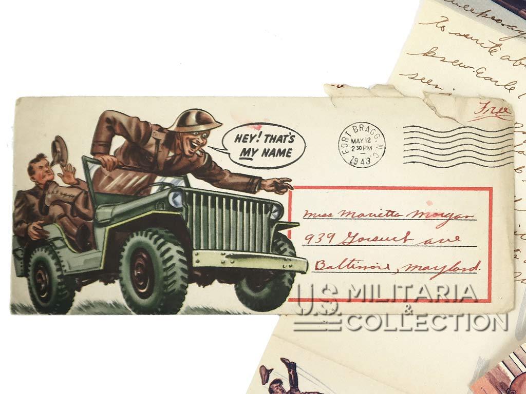 Lettre James A Elliott, Fort Bragg, 1943