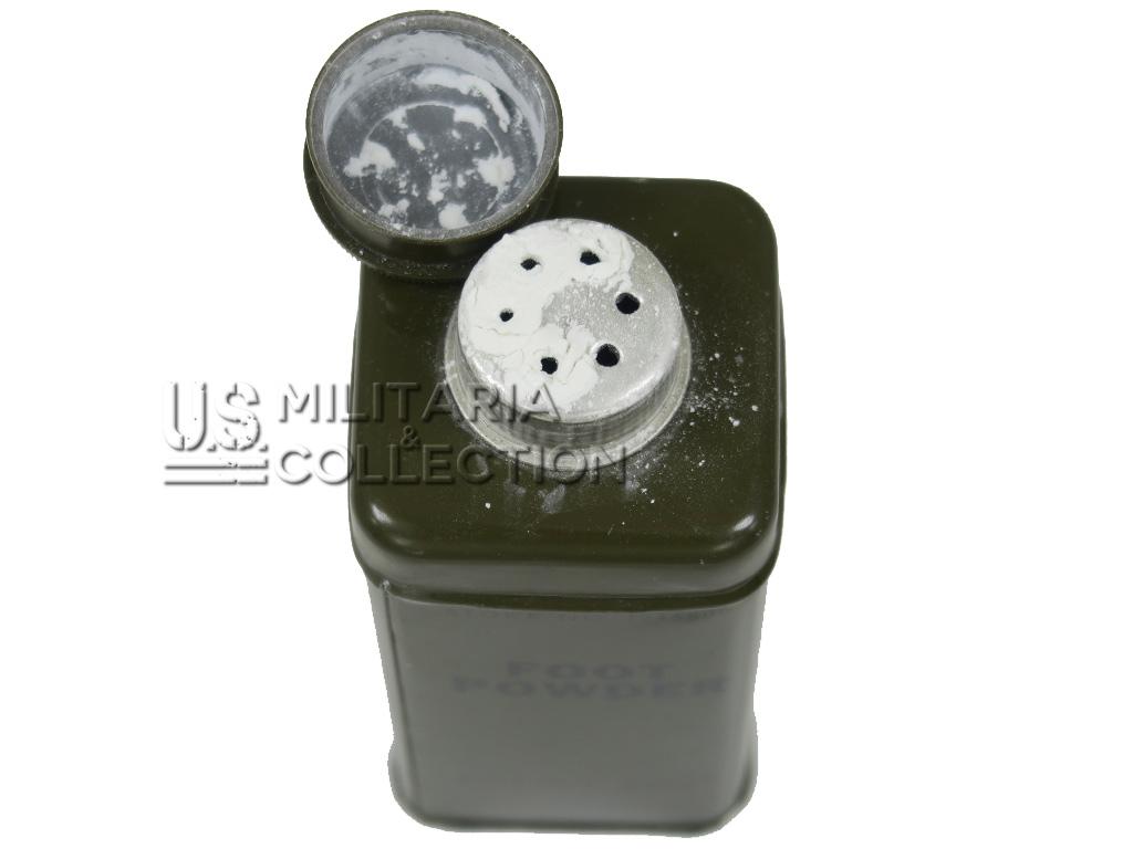 Boîte de talc US, Medical Department Stock No. 1245800