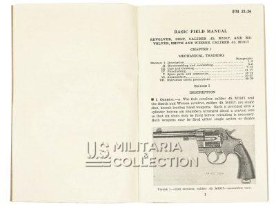 Manuel Technique FM 23-36, Revolver Colt .45