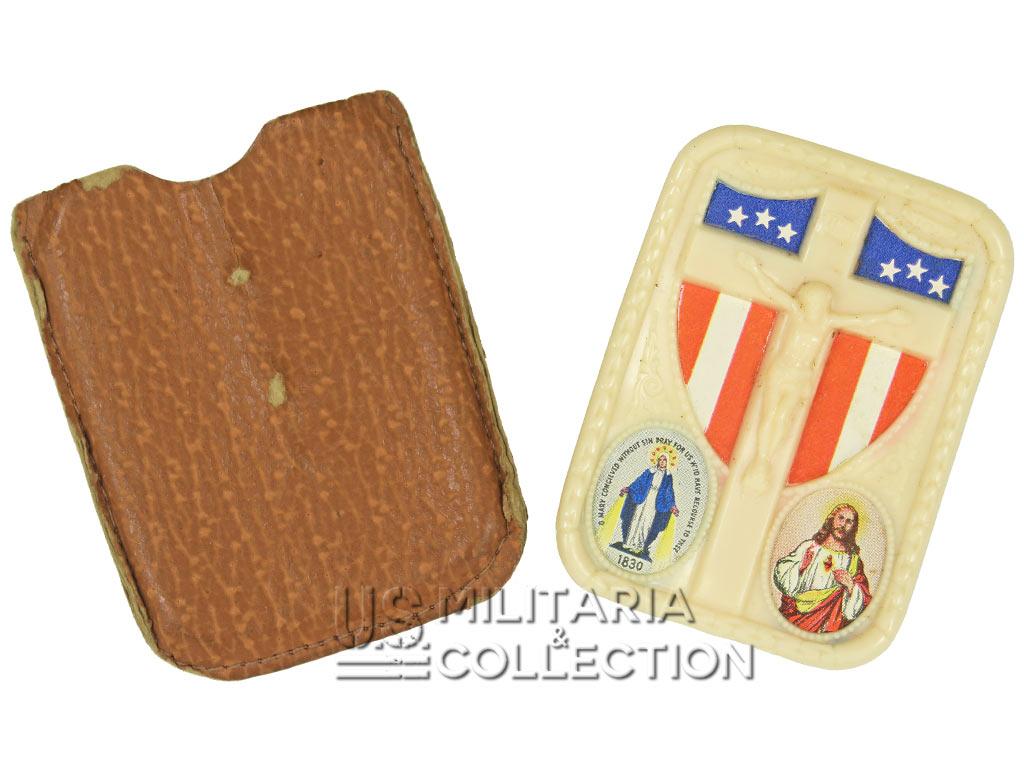 Plaque religieuse, dog tag, soldat US